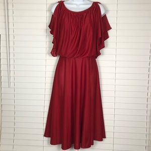 Vintage red Christmas party dress No tags no size